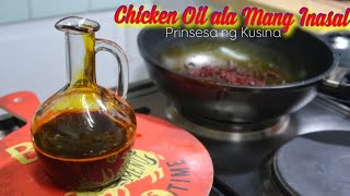How to make Chicken Oil ala Mang Inasal