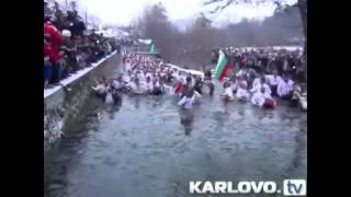 Bulgarian gypsies with clothes in water. disgusting.