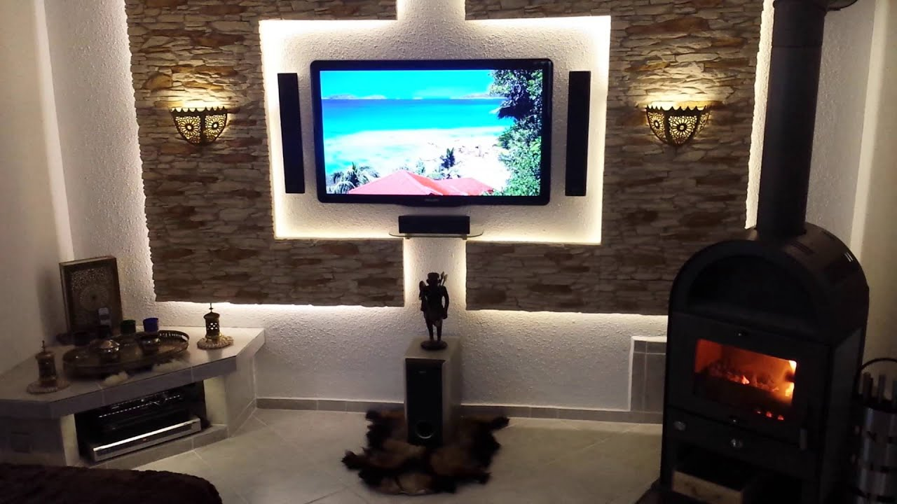 tv led cinewall mediawand im eigenbau youtube. Black Bedroom Furniture Sets. Home Design Ideas