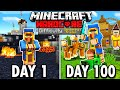 I Survived 100 Days as a WANDERING TRADER in Hardcore Minecraft... Here's What Happened