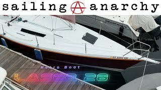 Sailboat Tour Laser 28 - E28 #retroboat - With #sailinganarchy Scot Tempesta