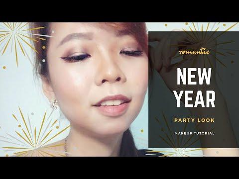 TUTORIAL | ROMANTIC KOREAN NEW YEAR PARTY MAKEUP LOOK | HOODED EYES, NO EYELID, MONOLID, ASIAN - YouTube