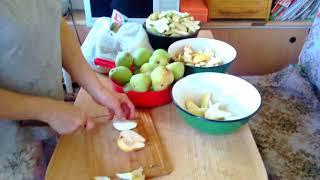 Подготовка груш для сушки!