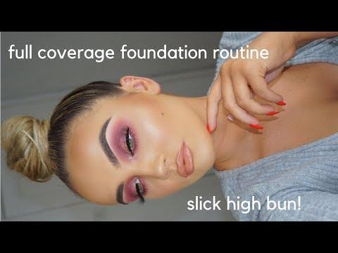 CURRENT FOUNDATION ROUTINE & HAIR BUN TUTORIAL thumbnail