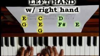 Eminem - Mockingbird Piano tutorial
