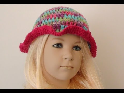Playful Girls Crochet Hat 3 To 10 Years Old Youtube