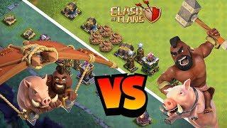 SCHWEINEGLEITER gegen SCHWEINEREITER! ⭐️ Clash of Clans ⭐️ CoC