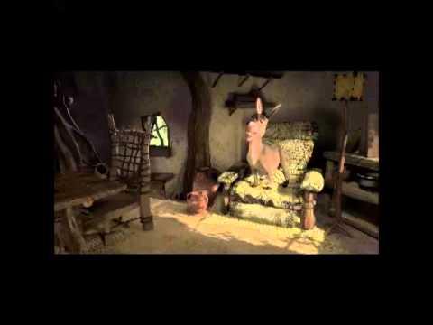 Donkey and Shrek making waffles