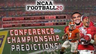 Predicting Every Power 5 Conference Champion | Playoff Chaos UPSETS | NCAA Football 20