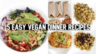 FIVE EASY & HEALTHY VEGAN DINNER RECIPES!
