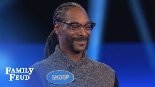 Snoop Dogg39s CRAZY Fast Money  Celebrity Family Feud  OUTTAKE