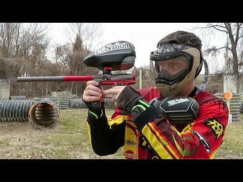 New Empire Axe 2.0 Paintball Gun - Shooting Video
