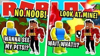 NOOB DISGUISE TROLLING! BULLY HAS BEST PETS IN ROBLOX BUBBLEGUM SIMULATOR! [MISE À JOUR 28]