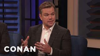 Ben Affleck Came To Matt Damon's Rescue In A Fight   Conan On Tbs