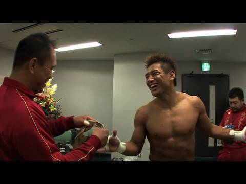 Masato and Souwer after Masato's final match 1/2 - Dynamite!!
