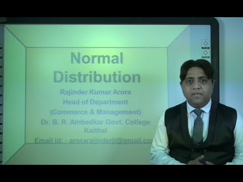 Probability in Hindi (Lecture 6 of 6): Normal Distribution under: E-Learning Program