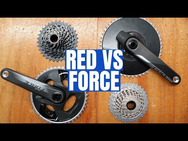 New SRAM RED VS. FORCE eTap AXS