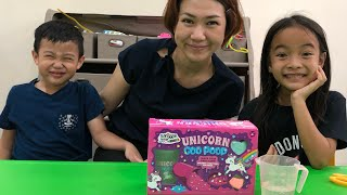 Unboxing Slime Unicorn Goo Poop | Kado Ulang Tahun Zara Cute dari Tante Sophia
