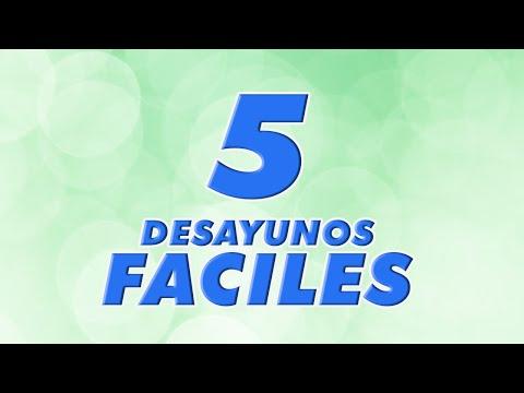 5 DESAYUNOS FACILES Y SANOS Para NIÑOS @cenas Para Peques