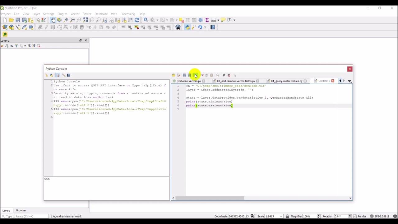 QGIS Python (PyQGIS) - Get raster layer statistics