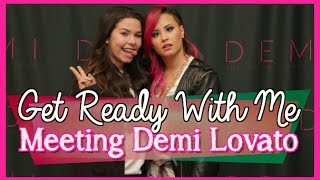 Meeting Demi Lovato ♡ Get ready with me + Concert Vlog Thumbnail