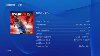 "NBA 2K15 PS4 Digital Download ""Fix"" Check Download Status"