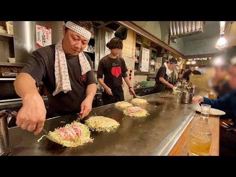 深夜2時の賑わい【お好み焼き】プロの職人技にびっくり【ふみちゃん】飯テロ 広島グルメ okonomiyaki