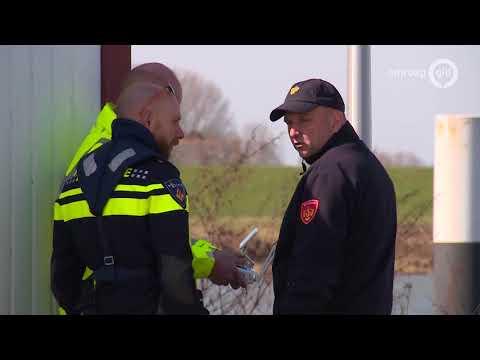 Zoekactie op Waal naar slachtoffers ongeluk Brakel