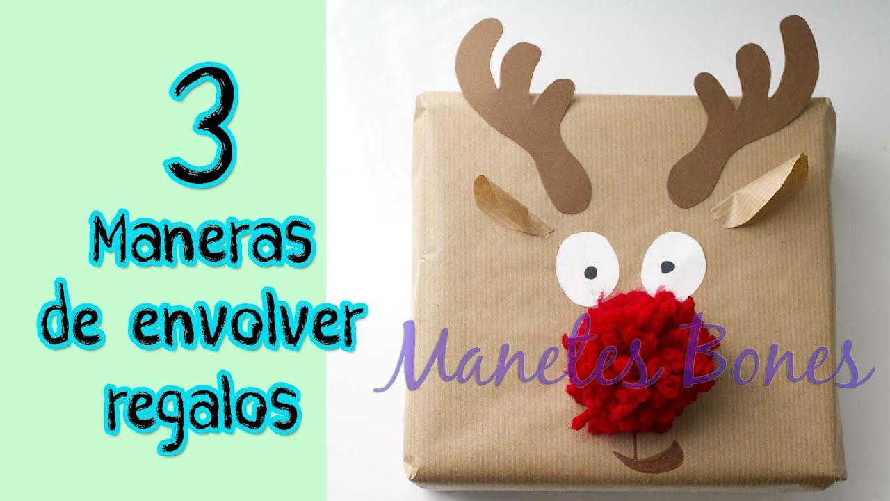 3 formas de envolver regalos viernes de papel tutorial - Envolver regalos de navidad ...