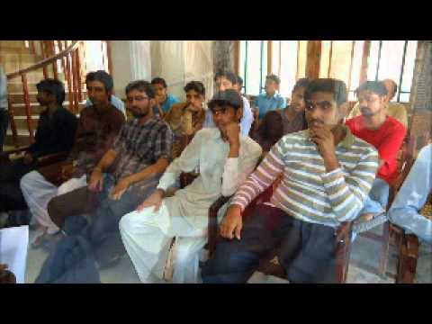 Lecture on 'Role of individual in social development'  organised by FRCE Pakistanwmv