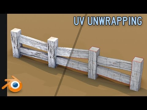 Unwrapping & Placing 2d Textures | Blender 2.8 | Beginner