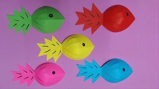 How to Make Fish with Color Paper | DIY Paper Fishes Making