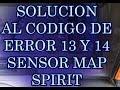 Solución Código de fallas 13,14, 23,61 spirit 93