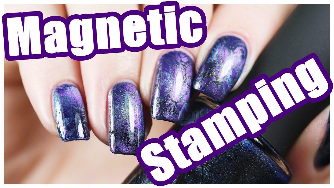 Magnetic Nail Art Design   PaintedByPolish - YouTube