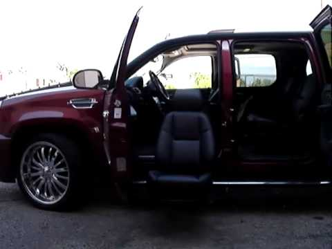 cadillac escalade with an extending driver seat and suicide door for paraplegics youtube. Black Bedroom Furniture Sets. Home Design Ideas