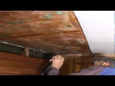 Installing Carpet Style Headliner / Hull Liner in a Boat