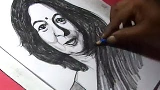 How to Draw Shika Sharma CEO of Axis Bank Drawing