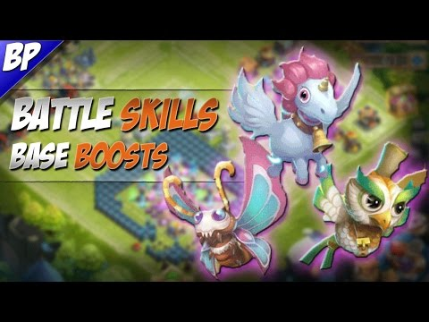 Castle Clash Hero Pets, Battle Skills & Base Boosts?