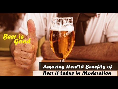 Drink Beer Daily for Health and Beauty - Men and Women