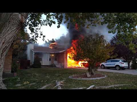 House fire in West Jordan, Utah video #2