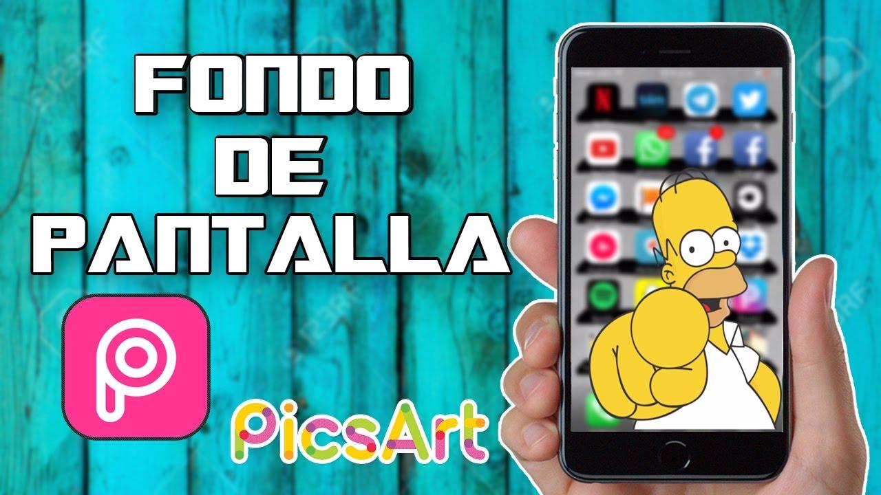 312c58cb2c7 HAZ TU PROPIO FONDO DE PANTALLA| PICSART| IPHONE IPOD Y IPAD - YouTube