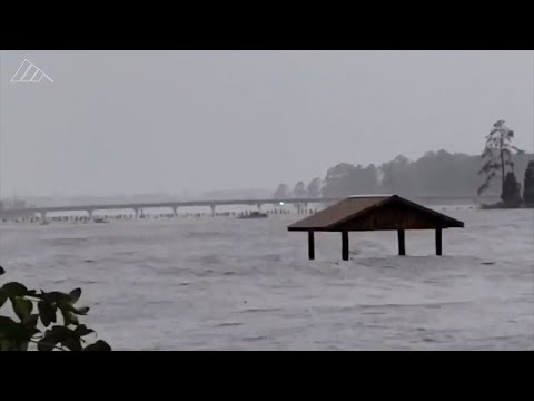 Videos Show Major Flooding To NC Towns On The Pamlico River From Hurricane Florence