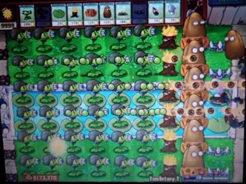 Plants Vs Zombies Cheating on Zombotany 2!!!