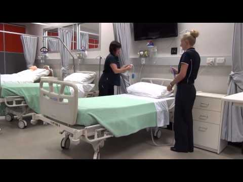 Making a hospital bed