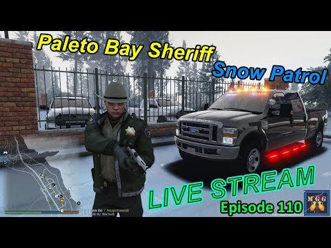 Paleto Bay Snow LIVE Patrol in a Ford F-350 Super Duty | GTA 5 LSPDFR Live Stream 110
