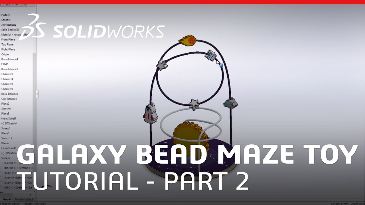 Galaxy Bead Maze Toy Part 2 - SOLIDWORKS