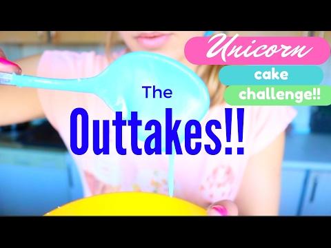 Unicorn cake challenge - OUTTAKES!! I Camilla's Vibes