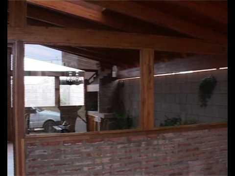 Techos de madera cochera y asador jorge londero maderas for Tejabanes para terrazas