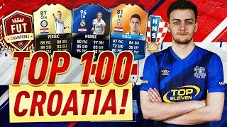 playing the best fifa player of all time top 100 fut champs wcroatia