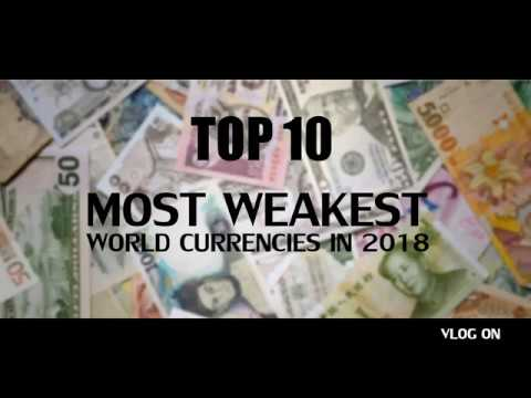 Top 10 Most Weakest world Currencies in 2018